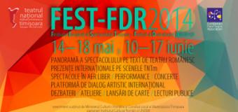 Începe festivalul de teatru FEST-FDR 2014