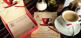 #PayWithAPoem sau o poezie pentru o cafea
